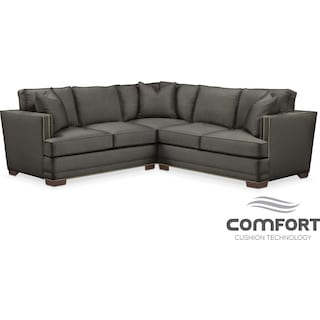 Arden Comfort 2-Piece Sectional with Right-Facing Loveseat - Sterling