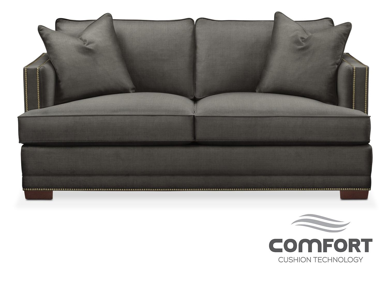 Living Room Furniture - Arden Comfort Apartment Sofa - Sterling