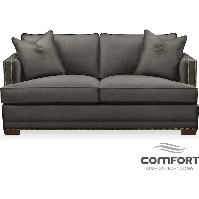 Living Room Furniture - Arden Comfort Apartment Sofa - Stately L Sterling
