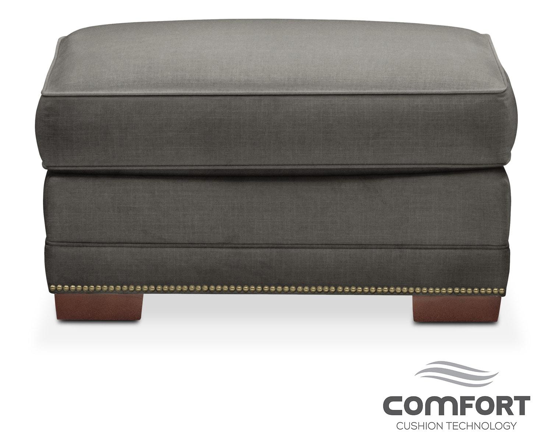 Living Room Furniture - Arden Comfort Ottoman - Sterling