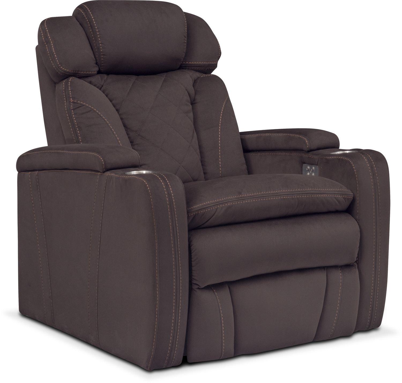 Living Room Furniture - Fiero Dual-Power Recliner
