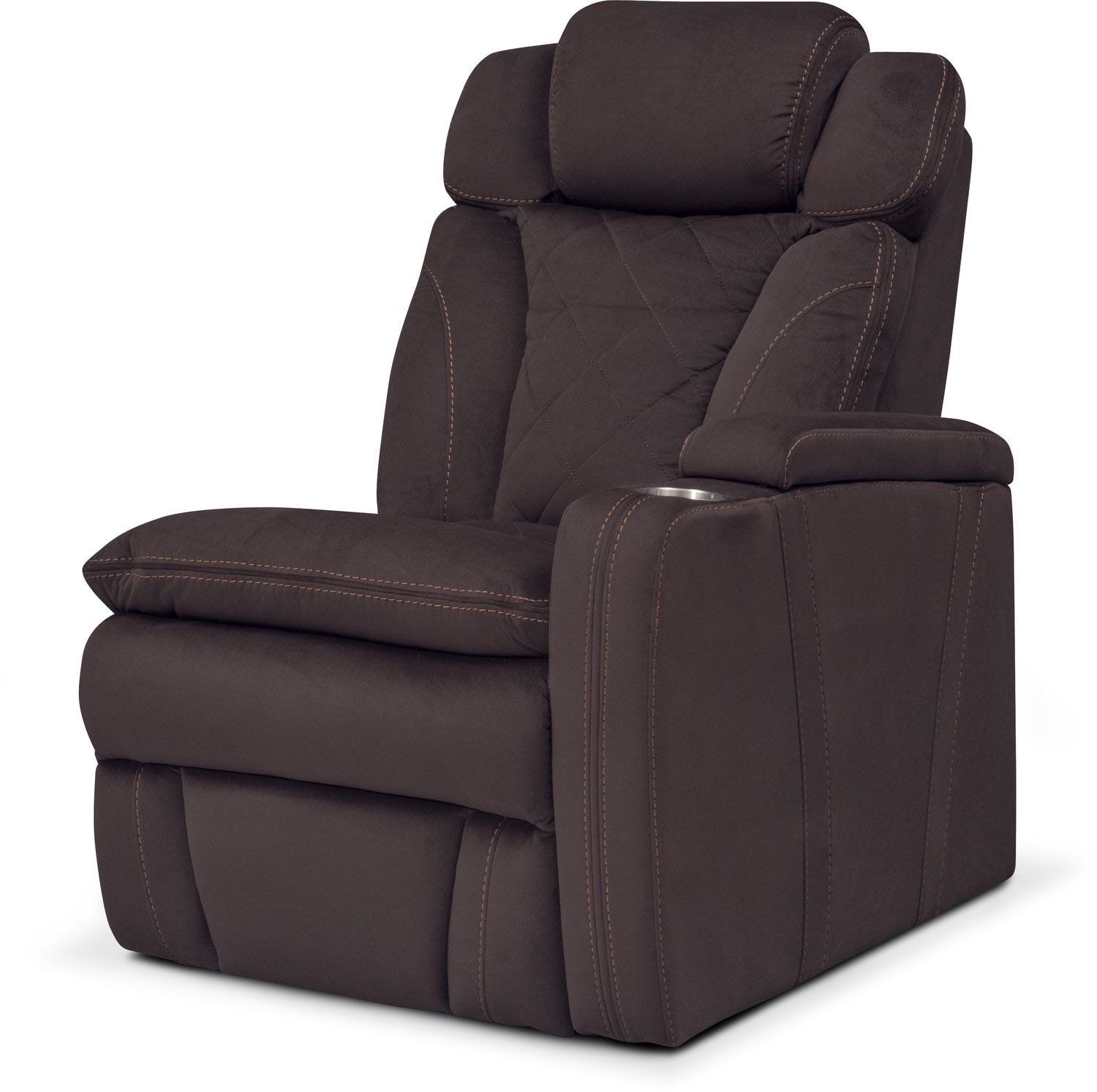 Living Room Furniture - Fiero Right-Facing Power Recliner - Godiva