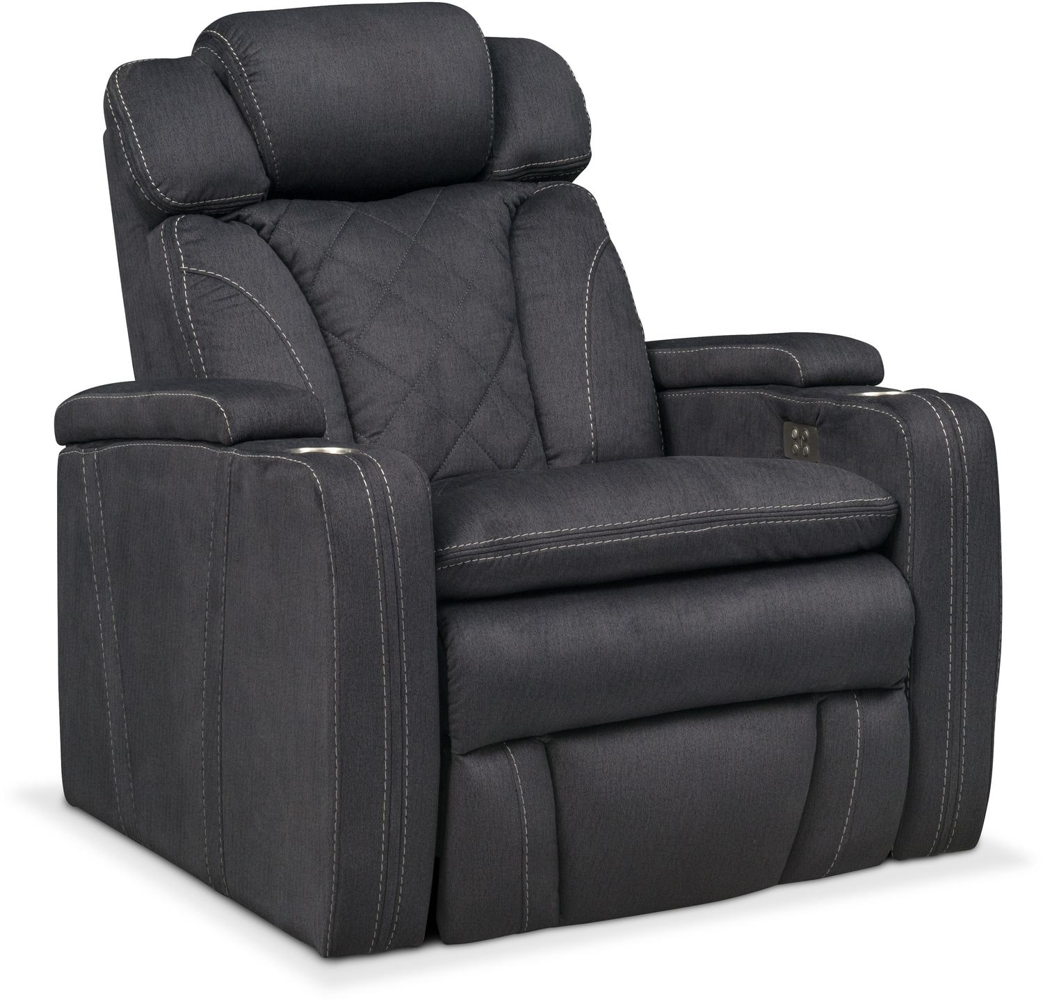 Fiero Power Recliner - Charcoal  sc 1 st  American Signature Furniture & Recliners u0026 Rockers | Living Room Seating | American Signature ... islam-shia.org