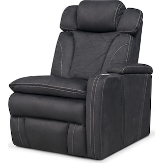 Fiero Right-Facing Power Recliner - Charcoal