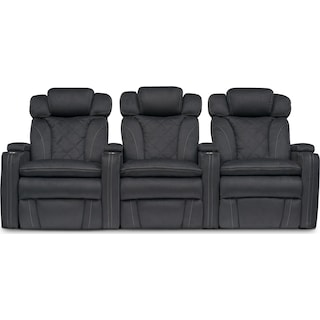 Fiero 3-Piece Dual-Power Reclining Home Theater Sectional