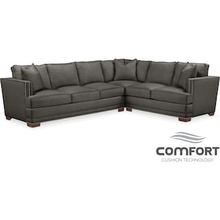Arden Comfort 2-Piece Sectional with Left-Facing Sofa - Sterling