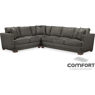 Arder Comfort 2-Piece Sectional with Right-Facing Sofa - Sterling