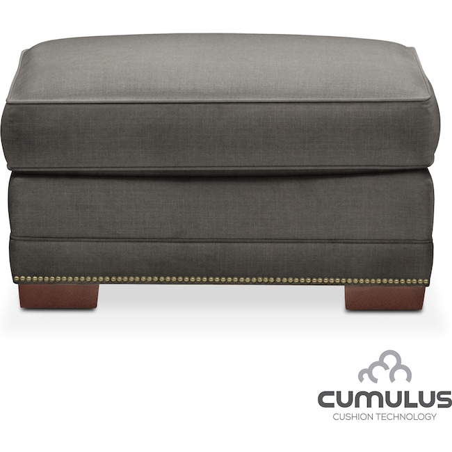 Living Room Furniture - Arden Cumulus Ottoman - Stately L Sterling