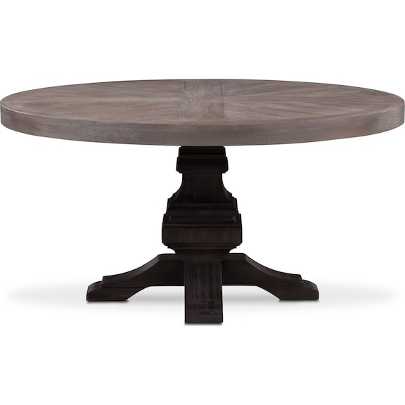 The lancaster round dining collection american signature for Round table 99