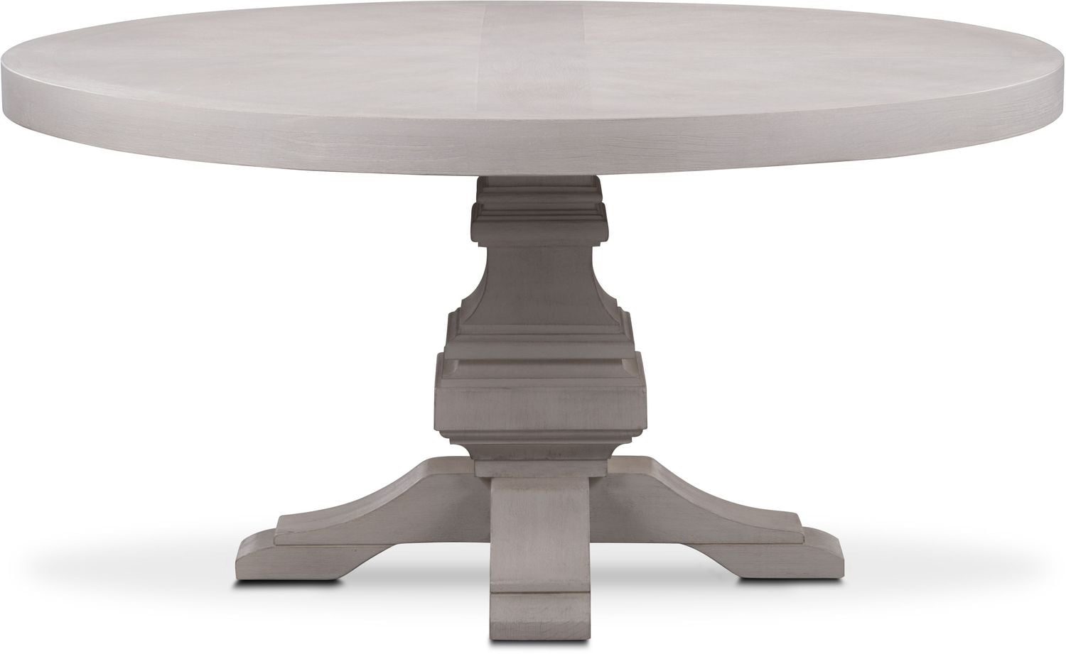 Water Dining Tables ~ Lancaster round wood top table water white american