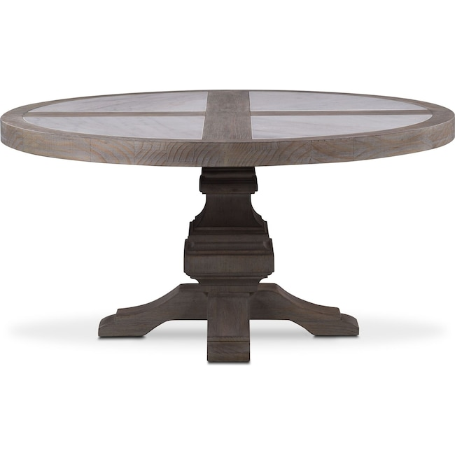 Dining Room Furniture Lancaster Round Marble Top Table Parchment