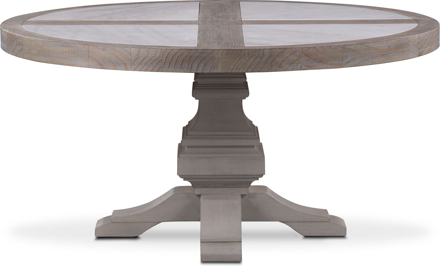 Water Dining Tables ~ Lancaster round marble top table parchment with water