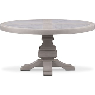 Lancaster Round Marble Top Table - Water White