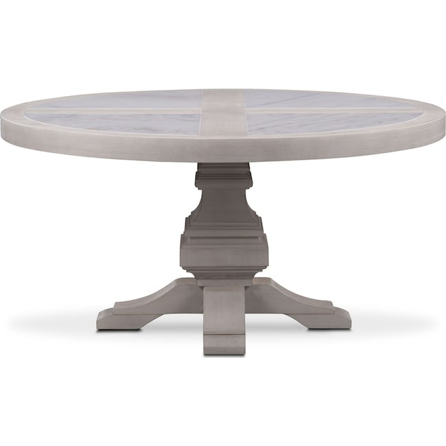 Dining Room Furniture - Lancaster Round Marble Top Table - Water White