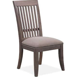 Lancaster Slat-Back Dining Chair - Parchment