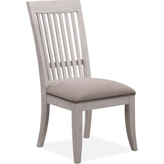 Lancaster Slat-Back Chair - Water White