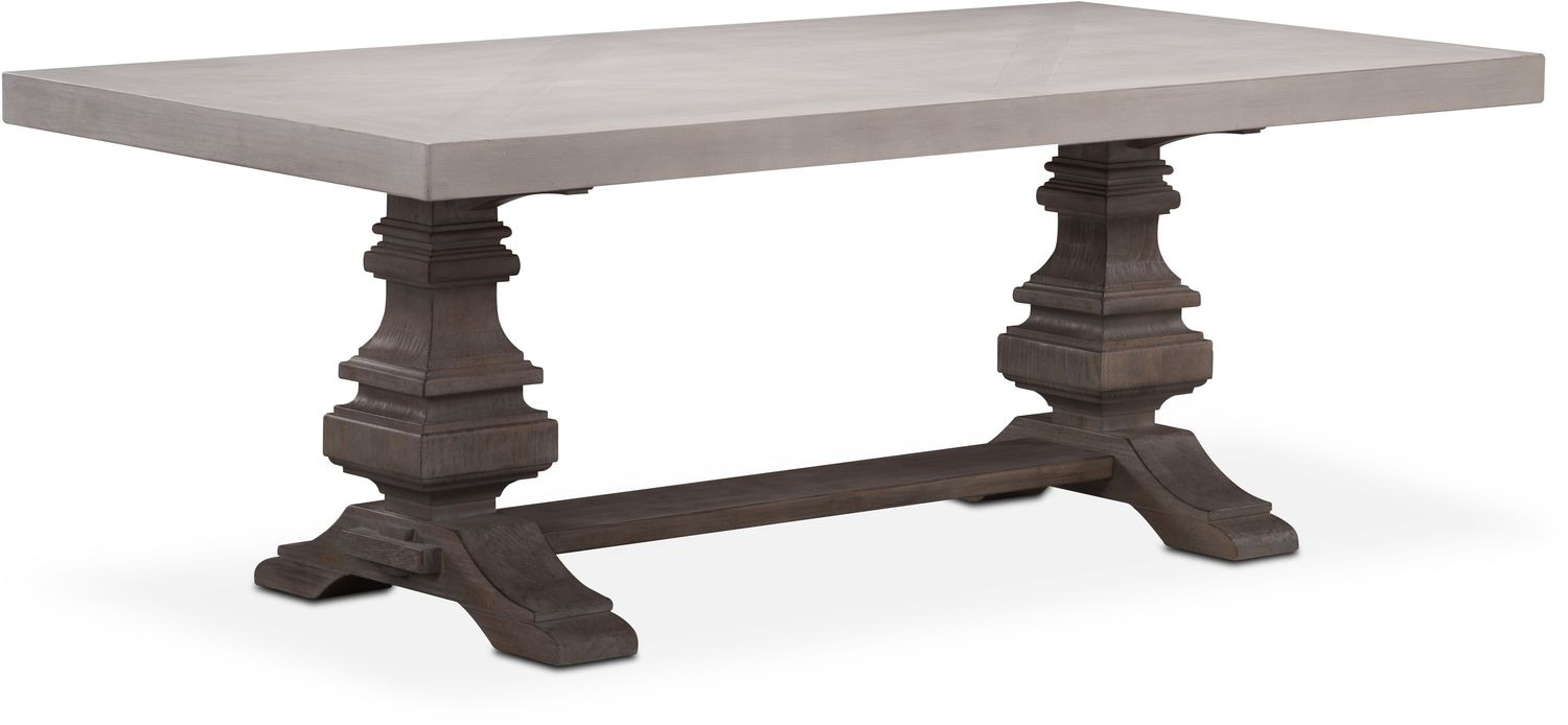 "Dining Room Furniture - Lancaster 82"" Wood Top Table"