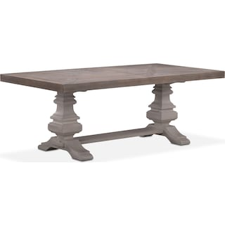 "Lancaster 82"" Wood Top Table - Parchment with Water White Urn Base"