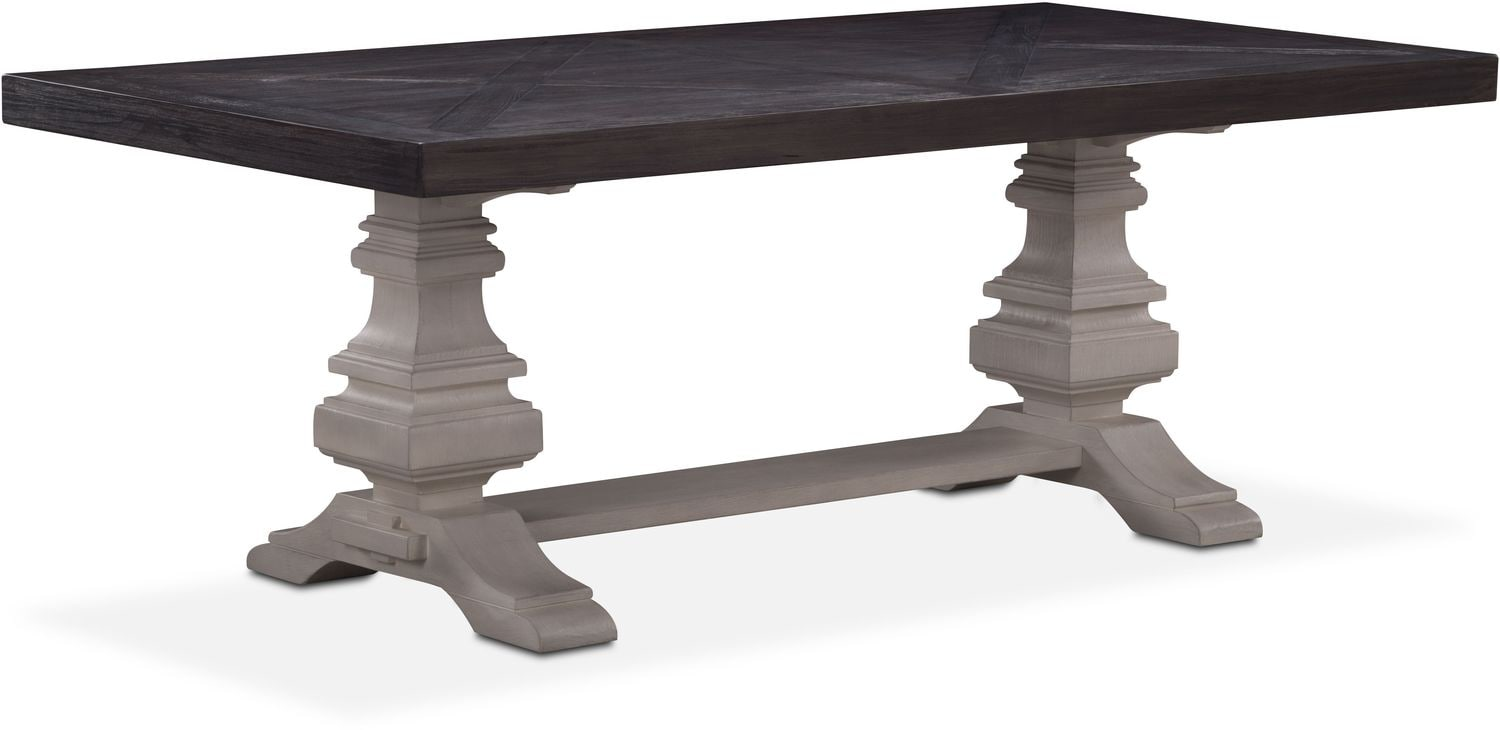 """Dining Room Furniture - Lancaster 82"""" Wood Top Table"""