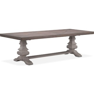 "Lancaster 104"" Wood Top Table"