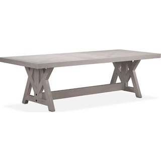 "Lancaster 120"" Wood Top Table with Farmhouse Base - Water White"