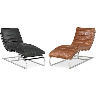The Balboa Leather Chaise Collection