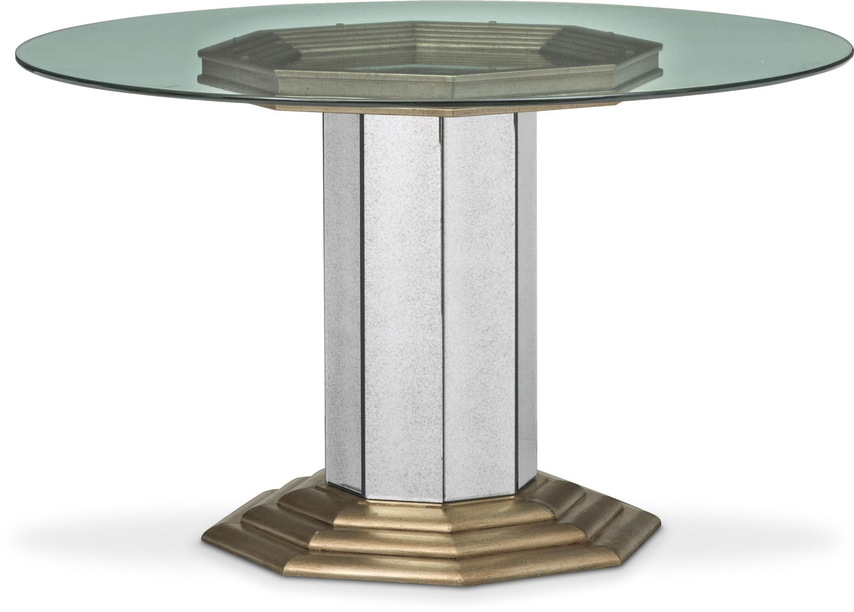 Angelina Round Table - Metallic