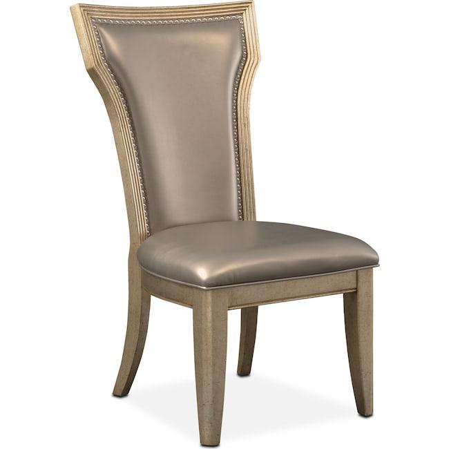 Dining Room Furniture - Angelina Side Chair - Metallic