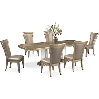 Angelina Dining Table and 6 Dining Chairs