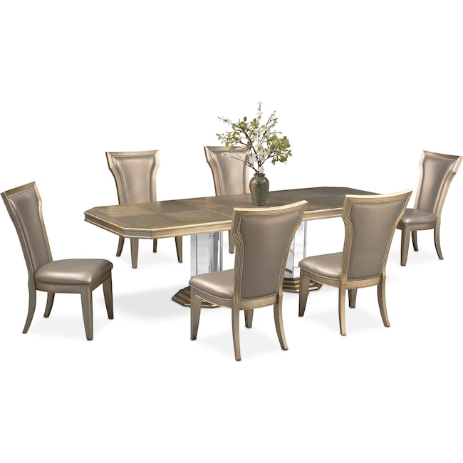 Dining Room Furniture - Angelina Dining Table and 6 Dining Chairs