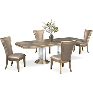 Angelina Dining Table and 4 Dining Chairs