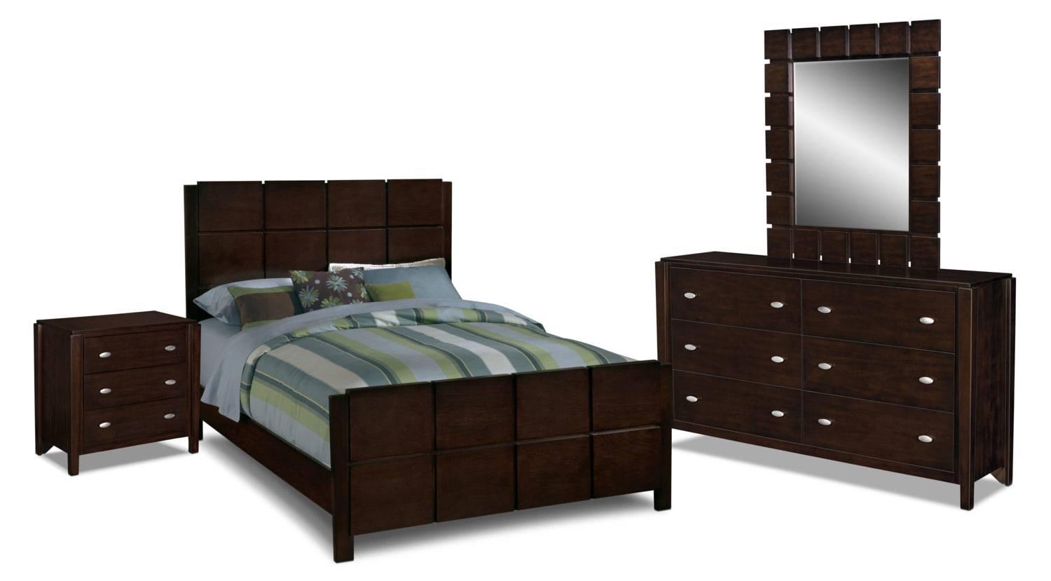 Mosaic 6 Piece King Bedroom Set   Dark Brown by Factory OutletMosaic 6 Piece King Bedroom Set   Dark Brown   American Signature  . American Signature Furniture King Bedroom Sets. Home Design Ideas