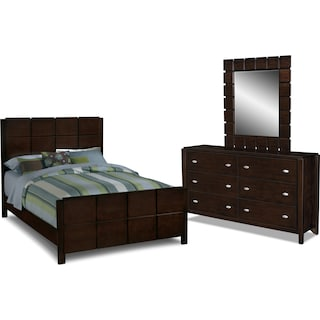 Mosaic 5-Piece Bedroom Set with Dresser and Mirror
