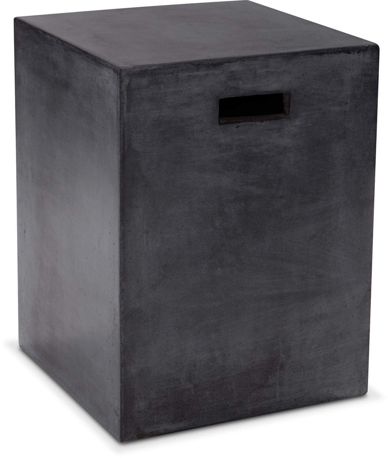 Accent and Occasional Furniture - Block End Table - Black
