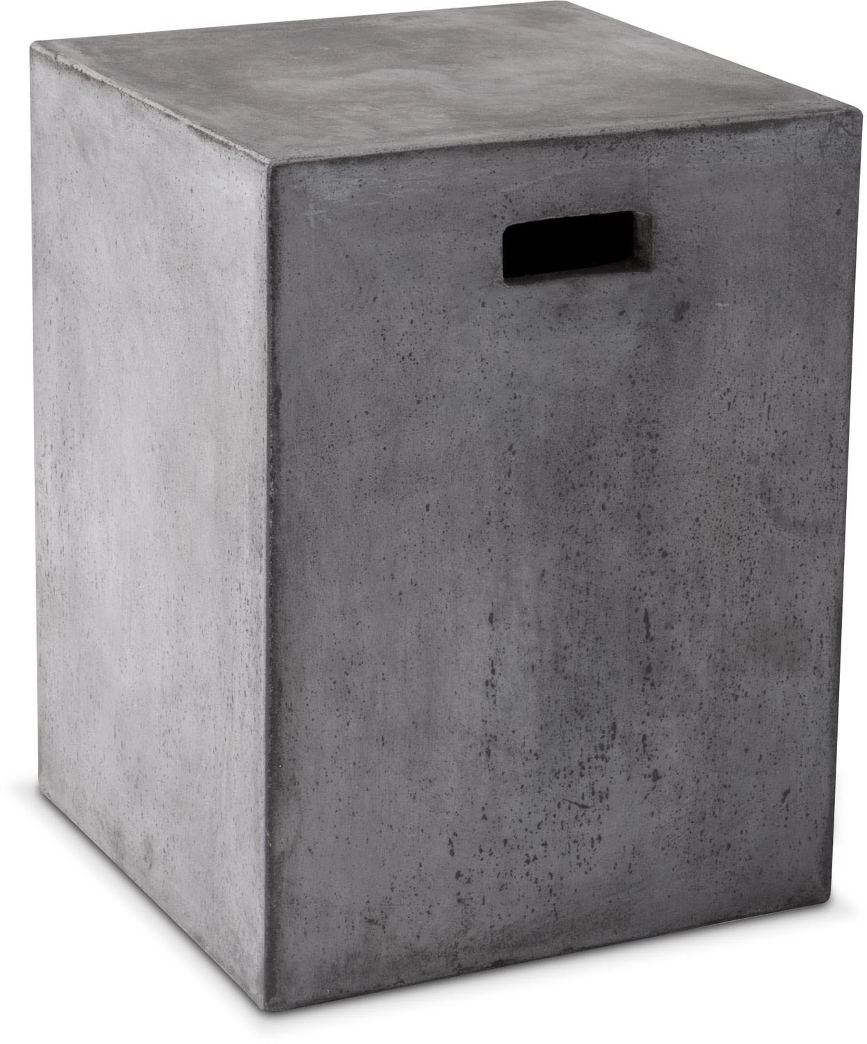 Block End Table - Gray