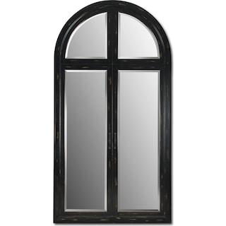 Black-Rubbed Floor Mirror