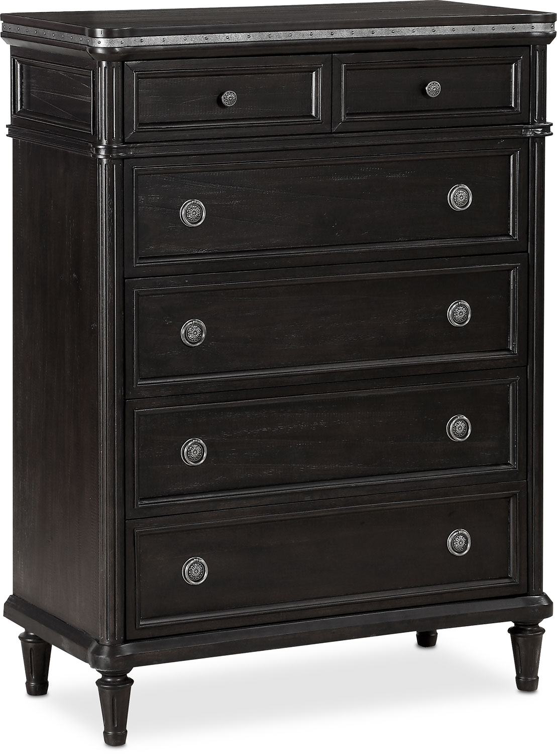 bedroom storage chest berwick chest charcoal american signature furniture 10685