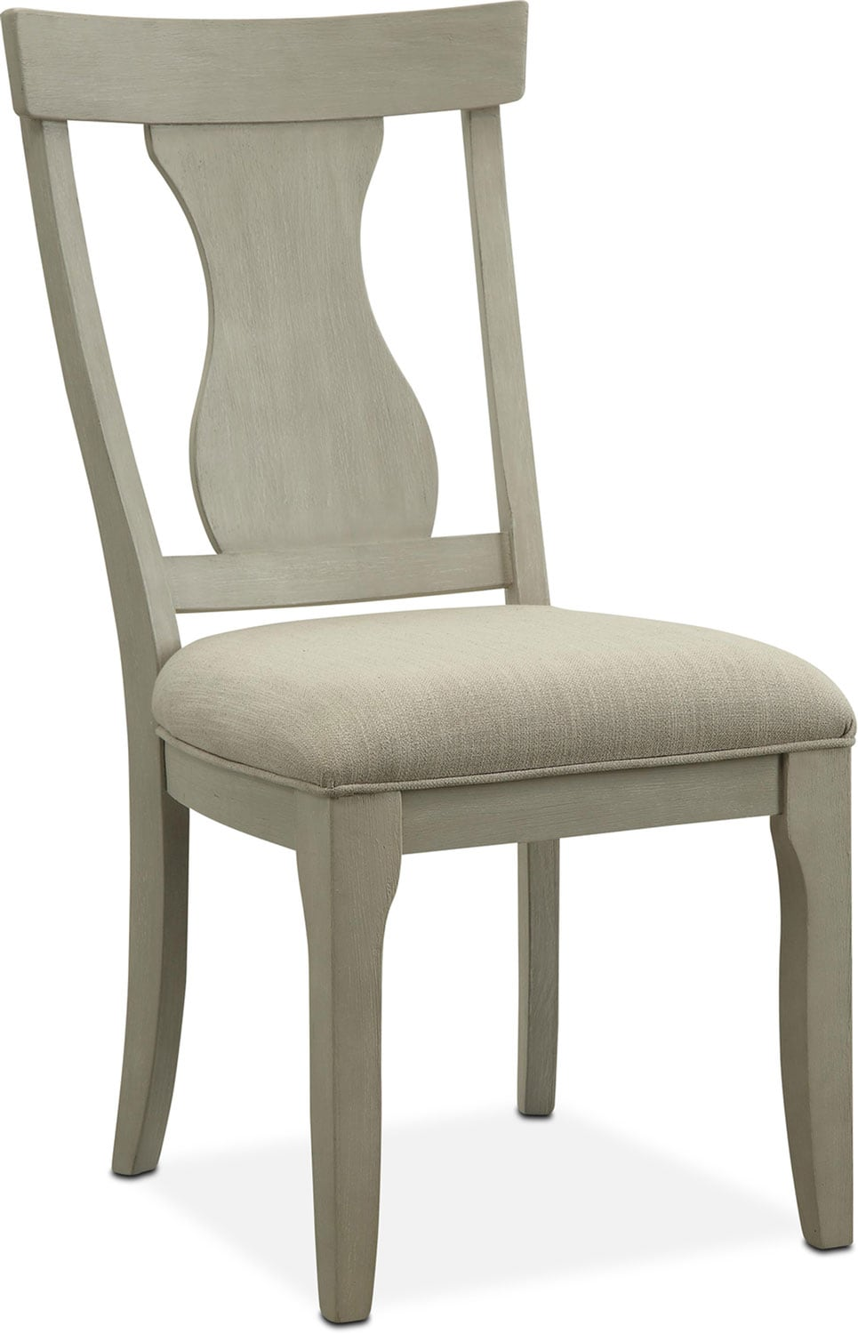 Beau Dining Room Furniture   Lancaster Splat Back Chair   Water White