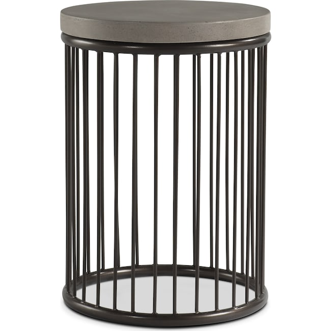 Accent and Occasional Furniture - Arbor Chairside Table - Concrete