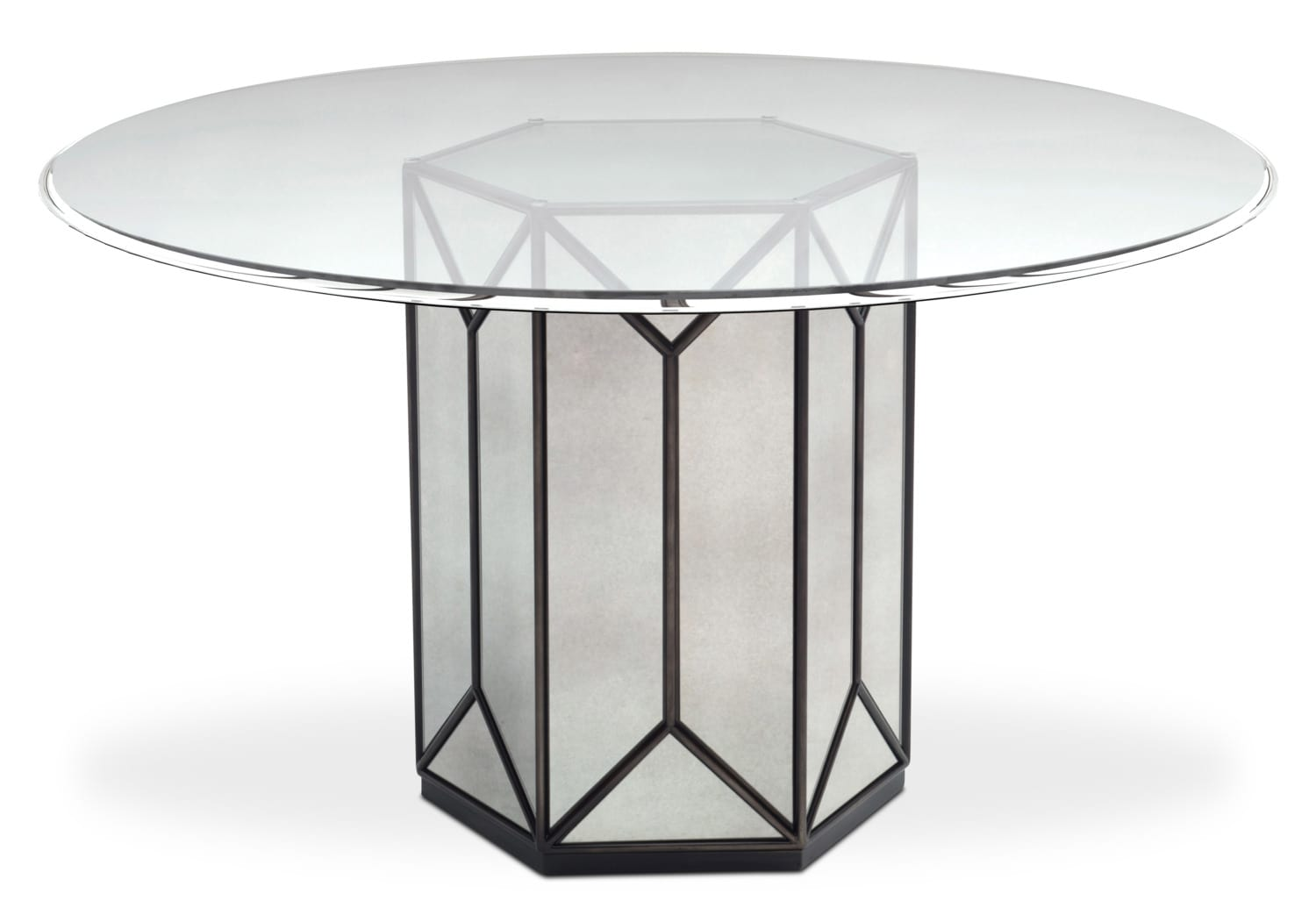 domaine round pedestal table mirror