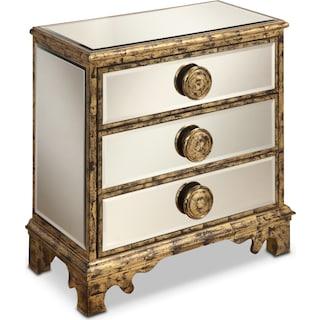 Tudor Chest - Antiqued Gold