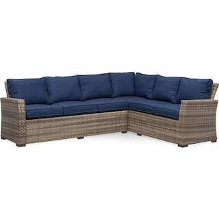Antigua 2-Piece Outdoor Sectional - Blue