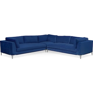 Aaron 3-Piece Sectional - Indigo