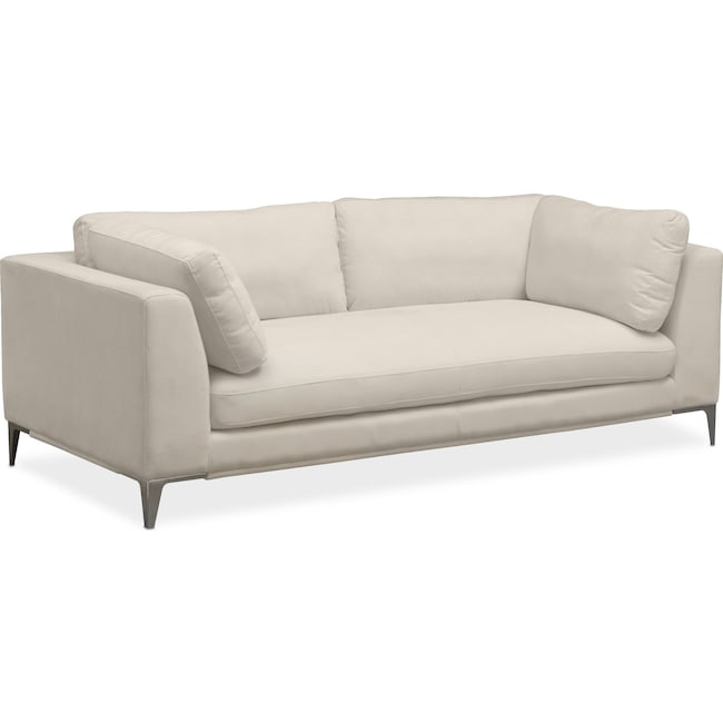 Living Room Furniture - Aaron Sofa - Ivory