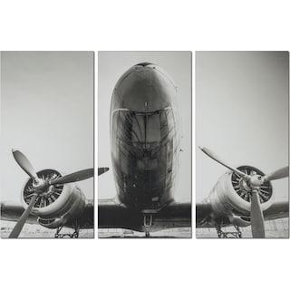 Plane 3-Piece Canvas Print