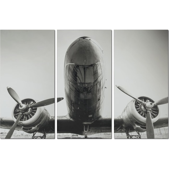 Accent and Occasional Furniture - Plane 3-Piece Canvas Print