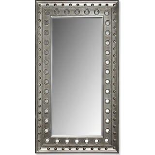 Antique Floor Mirror - Rubbed Black