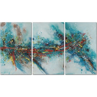 White Splatter 3-Piece Canvas Painting