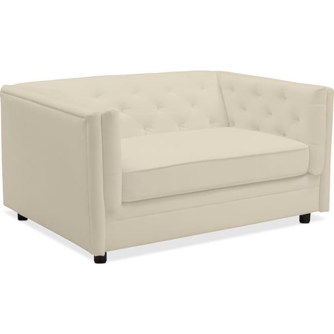 Living Room Furniture - Gabe Cuddler Chair - Ivory
