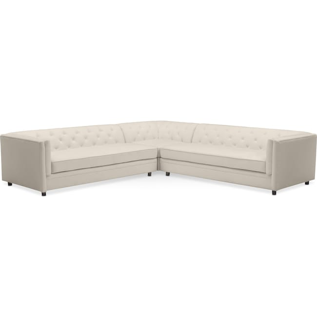 Living Room Furniture - Gabe 3-Piece Sectional - Ivory